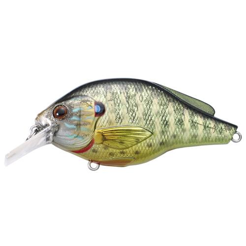 LiveTarget Lures PSS60S102 Pumpkinseed Flat Side Squarebill Freshwater, 2 3|8 in. , #6 Hook, 3'-4' Depth, Metallic Gloss