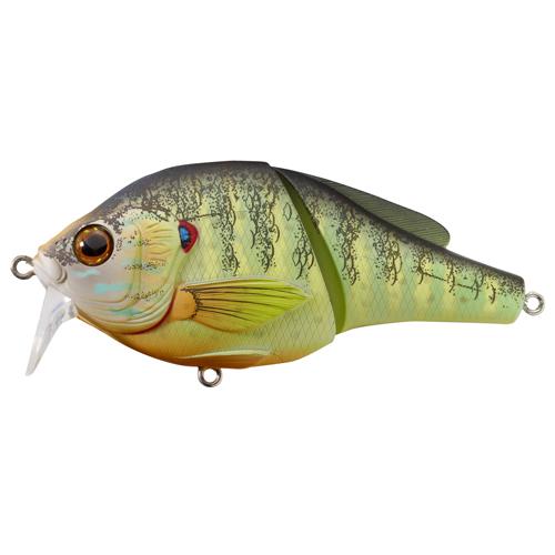 LiveTarget Lures PSW75T100 Pumpkinseed Wakebait Freshwater, 3 in. , #4 Hook, 0'-1' Depth, Natural|Matte