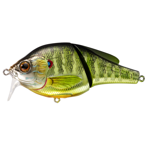 LiveTarget Lures PSW95T102 Pumpkinseed Wakebait Freshwater, 3 3|4 in. , #2 Hook, 0'-1' Depth, Metallic Gloss
