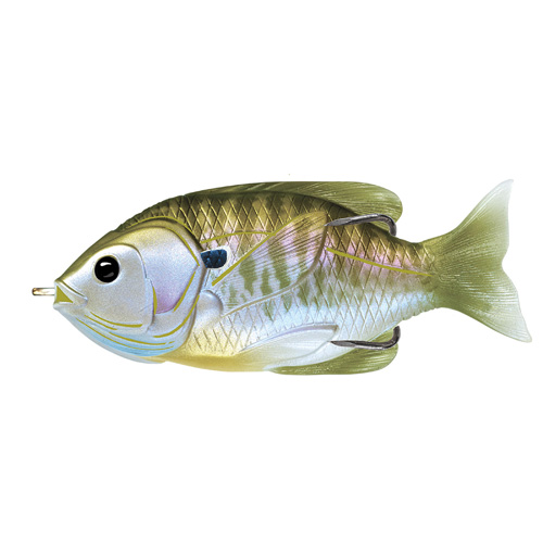 LIVETARGET Sunfish Hollow Body - 3'' - Natural|Olive Bluegill