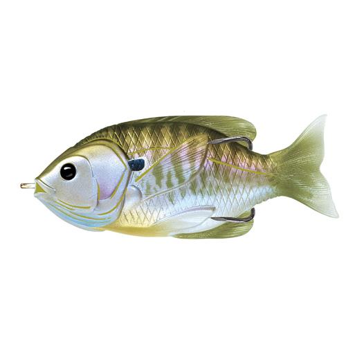 LIVETARGET Sunfish Hollow Body - 3-1|2'' - Natural|Olive Bluegill