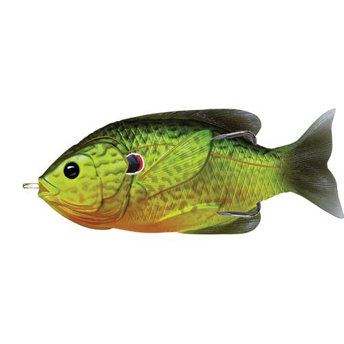 LIVETARGET Sunfish Hollow Body - 3-1|2'' - Fluorescent Pumpkinseed
