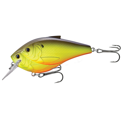 LiveTarget Lures TBB85S824 Threadfin Shad Squarebill Freshwater, 3 1|2 in. , #1|0 Hook, 5'-6' Depth, Metallic Chartreuse|Black