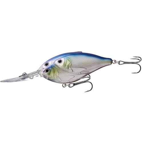 LiveTarget Lures TDD70D820 Threadfin Shad Crankbait Freshwater, 2 3 4 in. , #4 Hook, 12' Depth, Metallic Pearl Lavender