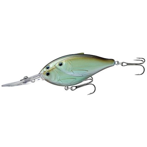 LiveTarget Lures TDD70D821 Threadfin Shad Crankbait Freshwater, 2 3|4 in. , #4 Hook, 12' Depth, Green|Ghost