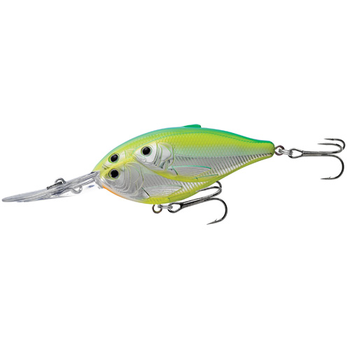 LiveTarget Lures TDD70D823 Threadfin Shad Crankbait Freshwater, 2 3|4 in. , #4 Hook, 12' Depth, Metallic Citrus Shad