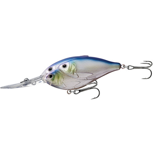 LiveTarget Lures TDD90D820 Threadfin Shad Crankbait Freshwater, 3 1|2 in. , #1 Hook, 20' Depth, Metallic Pearl|Lavender