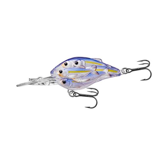 LiveTarget Lures YCB50M812 Yearling Baitball Crankbait Freshwater, 2 in. , #6 Hook, 6'-7' Depth, Pearl|Violet Shad