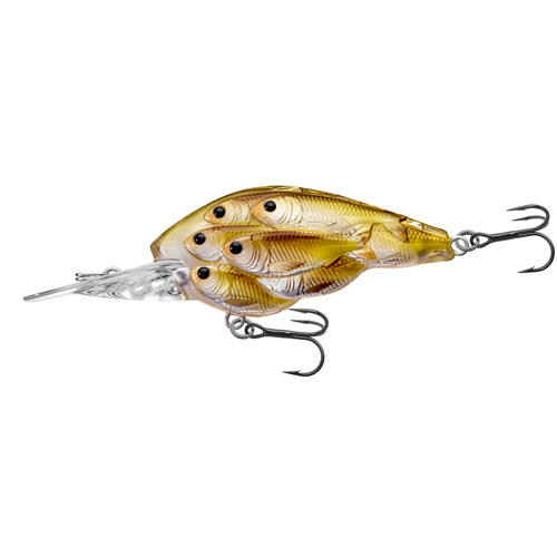 LiveTarget Lures YCB60M815 Yearling Baitball Crankbait Freshwater, 2 3|8 in. , #4 Hook, 7'-8' Depth, Pearl|Olive Shad