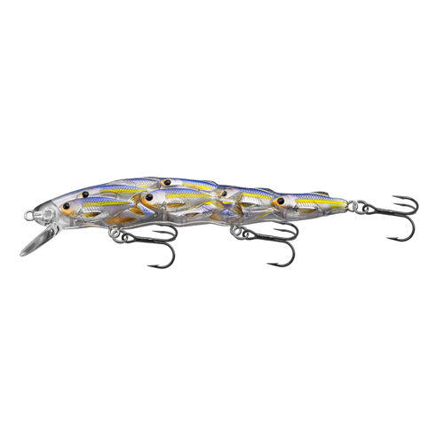 LiveTarget Lures YJB110S812 Yearling Baitball Jerkbait Freshwater, 4 1|4 in. , #6 Hook, 4'-5' Depth, Pearl|Violet Shad