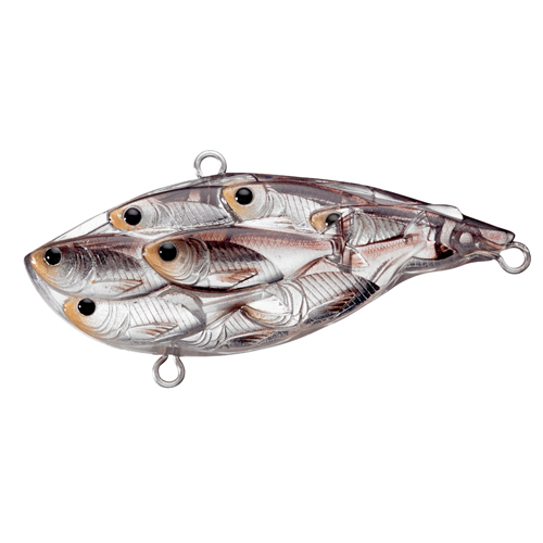 LiveTarget Lures YRB65SK813 Yearling Baitball Rattlebait Freshwater, 2 1|2 in. , #4|#6 Hook, Variable Depth, Silver|Black