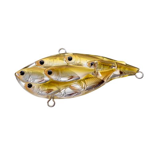 LiveTarget Lures YRB65SK815 Yearling Baitball Rattlebait Freshwater, 2 1|2 in. , #4|#6 Hook, Variable Depth, Pearl|Olive Shad