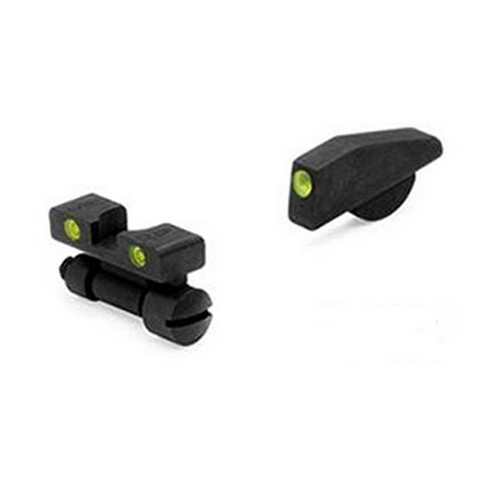 Meprolight 22771 Tru-Dot Night Sight Set Adjustable S&W K|L|N Frame Tritium Green Front|Rear Black