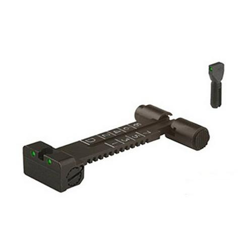 Meprolight 33115 Tru-Dot Night Sight Set AK-47|AKM|AK-74 Tritium Green Tritium Green Black