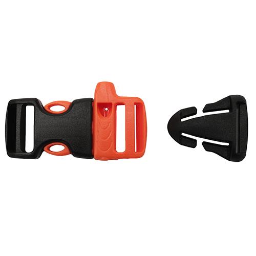 McNett 3|4-inch Whistle Sternu Strap Buckle w|Quick Attach T-Glide