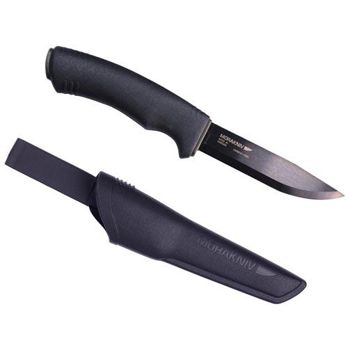 Morakniv Bushcraft Black Knife, Black, 4.3