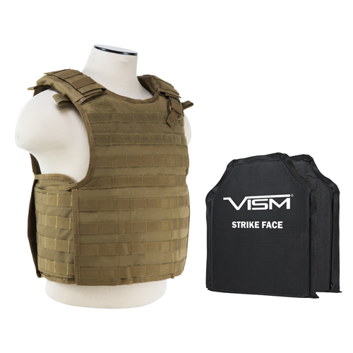 NcStar QR Plate Carrier Vest/Two 10 in. X12 in. /Tan