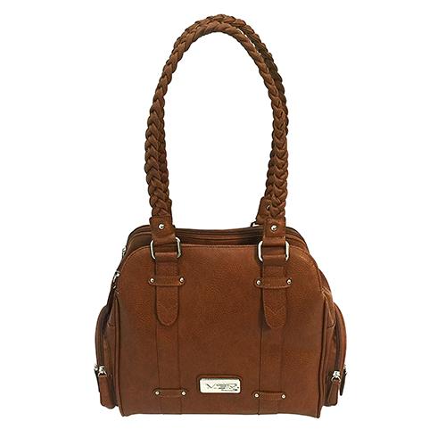NcStar Concealed Carry Braided Shldr Bag- Brn