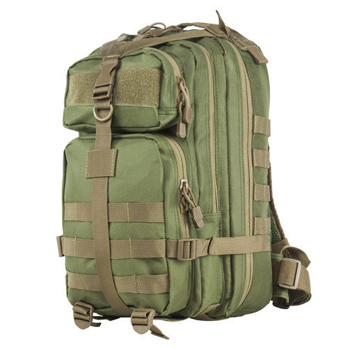 NC Star Small Backpack Green w|Tan Trim