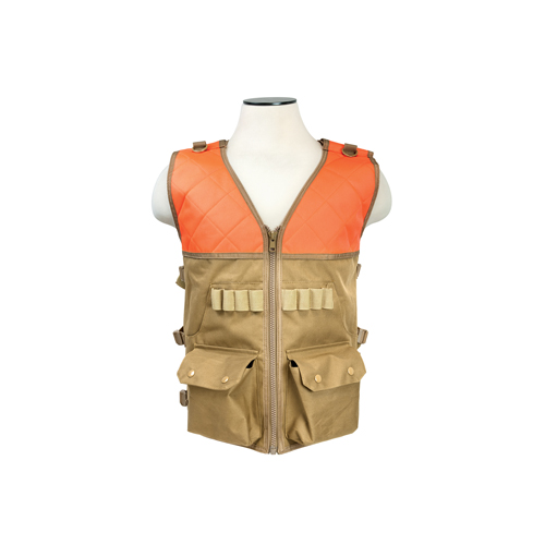 NCStar Hunting Vest|Blaze Orange And Tan
