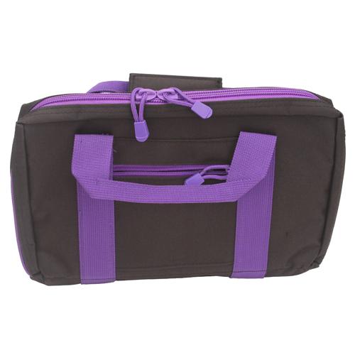 NC Star Discreet Pistol Case Black w|Purple Trim