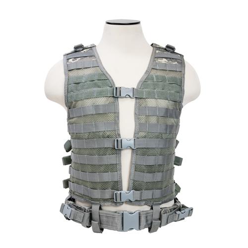 NC Star Urban Gray MOLLE Vest