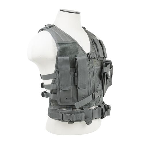 NC Star Tactical Vest Childrens, Urban Gray