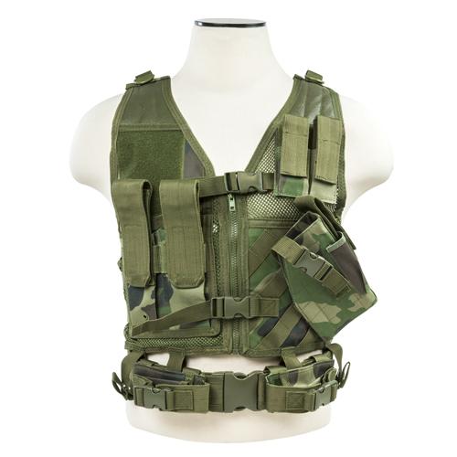NC Star Tactical Vest XS-Small Woodland