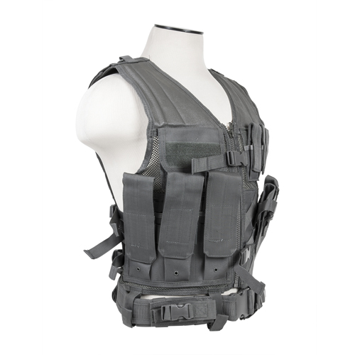 NC Star Tactical Vest Urban Gray Large