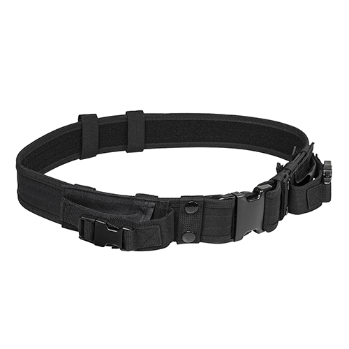 NcStar Vism Tactical Belt With Two Pouches/Black