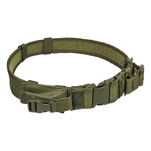 NcStar Vism Tactical Belt With Two Pouches/Green