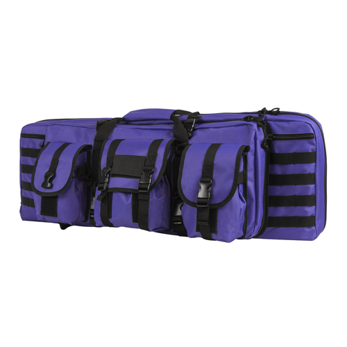 NC Star Double Carbine Case, 36&quot Black with Purple Tan
