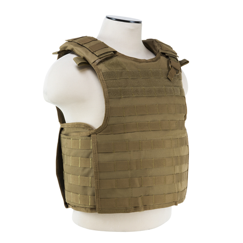 NC Star Quick Release Plate Carrier Vest Tan