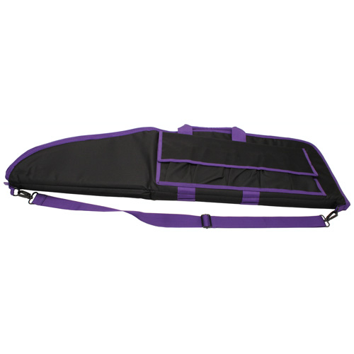 NcStar 2907 Series Rifle Case Black with Purple Trim