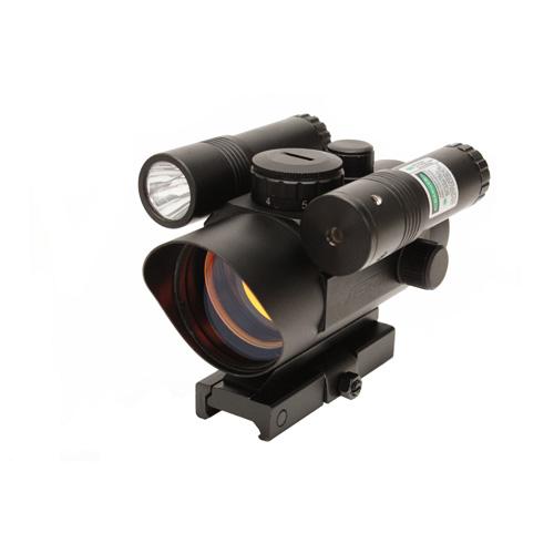 NcStar Vism Red Dot Sight|Green Laser-Led FL|QR Mount