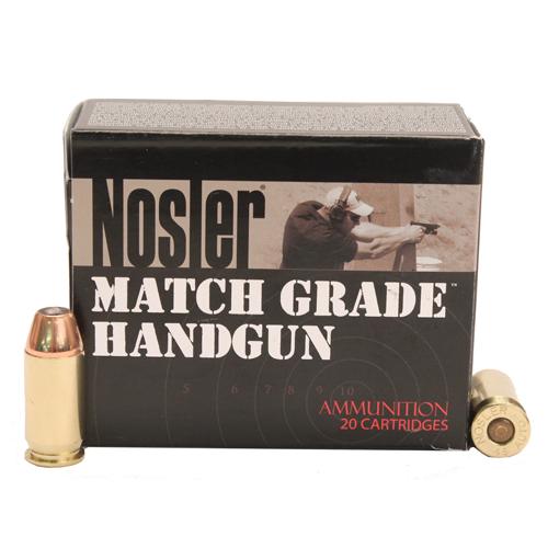 Nosler 51277 Match Grade 45 ACP 230 GR JHP 20 Bx| 10 Cs