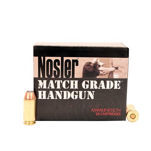 Nosler 51283 Match Grade 40 S&W 150 GR JHP 20 Bx| 20 Cs