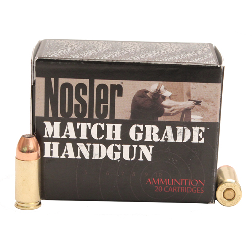 Nosler 51285 Match Grade Handgun 9mm Luger 115 GR JHP 20 Bx| 20 Cs