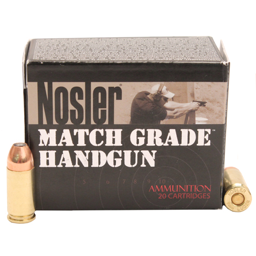 Nosler 51286 Match Grade 9mm Luger 124 GR JHP 20 Bx| 20 Cs