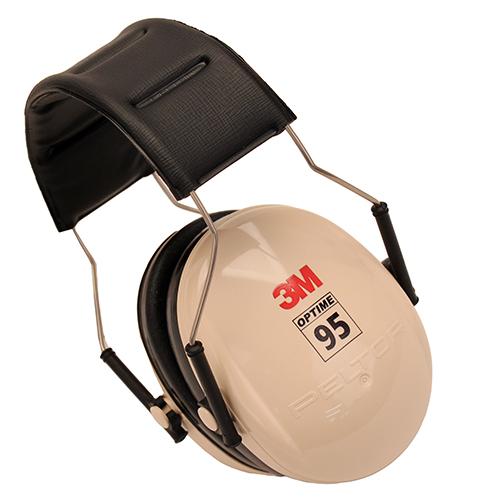 Peltor 95 Behind-the-Head Earmuffs Beige|Black