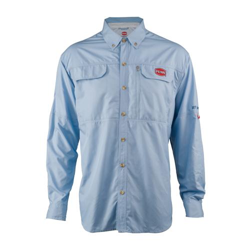 PENN 1321540 Vented Performance Long Sleeve Shirts Blue, Medium