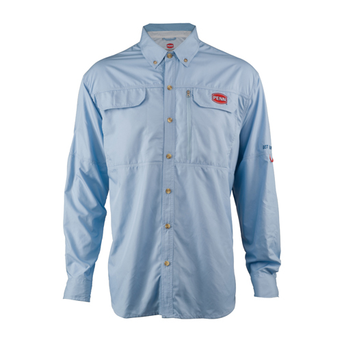 PENN 1321541 Vented Performance Long Sleeve Shirts Blue, Large
