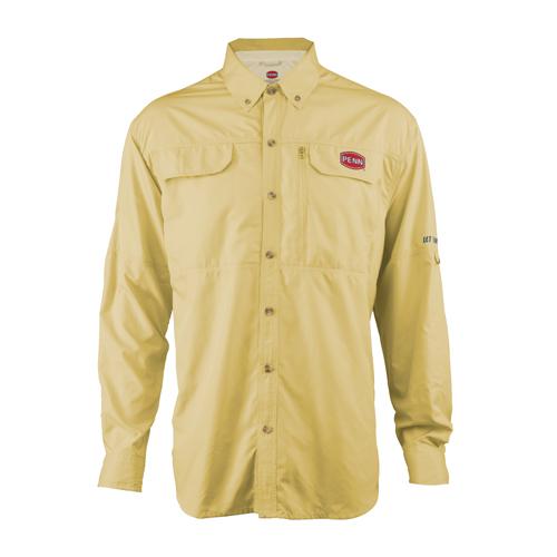 PENN 1321548 Vented Performance Long Sleeve Shirts Yellow, Medium
