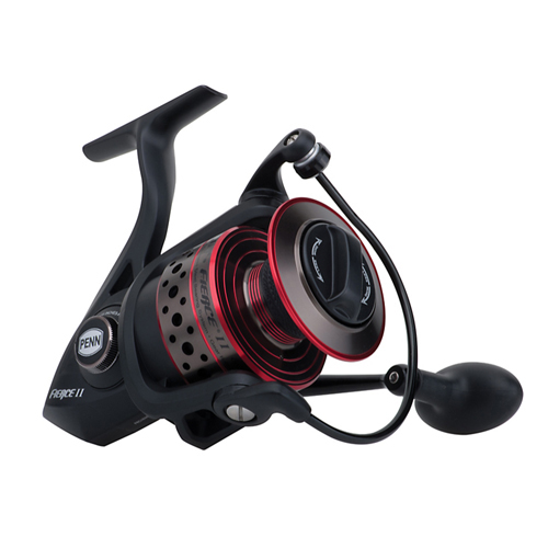 PENN 1364042 Fierce II Spinning Reel 6000, 5.6:1 Gear Ratio, 5 Bearings, 20 lb Max Drag, Ambidextrous, Boxed