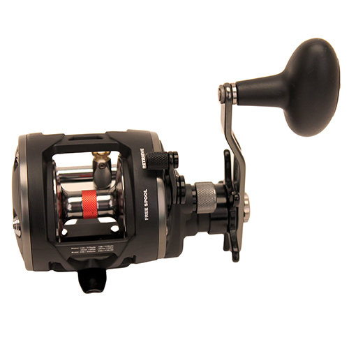 PENN 1366185 Warfare Level Wind Conventional Reel 15 Reel Size. 5.1:1 Gear Ratio, 29 in.  Retrieve Rate, 15 lb Max Drag, RH, Boxed