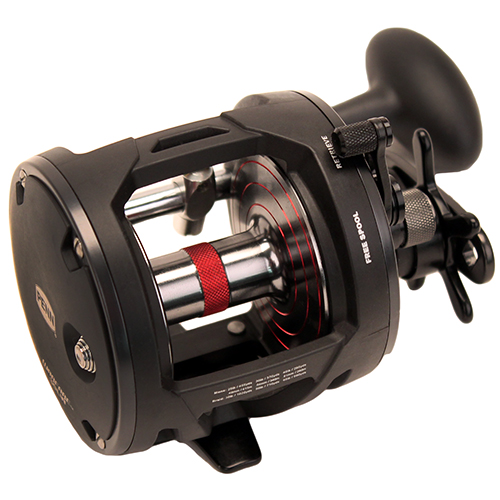 PENN 1366195 Warfare Level Wind Conventional Reel 30, 3.9:1 Gear Ratio, 27 in.  Retrieve Rate, , 15 lb Max Drag, Right Hand, Boxed