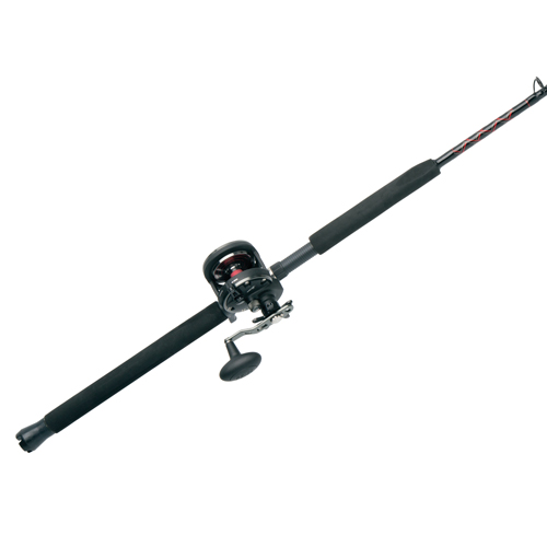 PENN 1366242 Warfare Level Wind Conventional Combo 20N, 5.1:1 Gear Ratio, 15 lb Max Drag, 6'6 in.  1pc Rod, Medium|Heavy, Right Hand