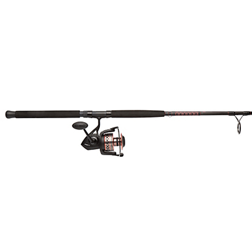 PENN 1366255 Fierce II Spinning Combo 8000, 5.3:1 Gear Ratio, 10' 2pc Rod 20-40lb Line Rate, Heavy Power, Ambidextrous