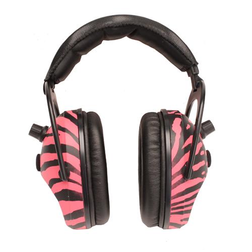 Pro Ears Gold Pink Zebra