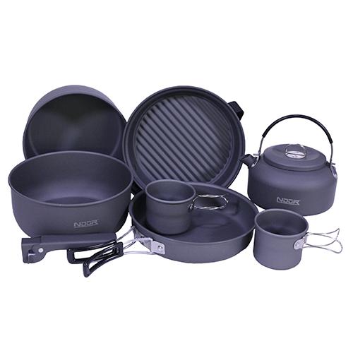 Proforce Equipment Ndur 9 Piece Cookware Mess Kit W/kettle